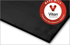 Genuine Black Viton Rubber Sheet