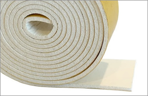 Self Adhesive Expanded White Silicone Strip