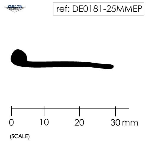 Solid Rubber Piping P Section Seal DE0181-25MMEP