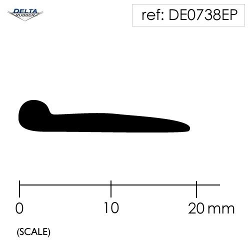 Solid Rubber Piping P Section Seal DE0738EP