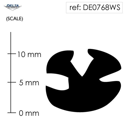 Rubber Window Seal Weatherstrip DE0768WS