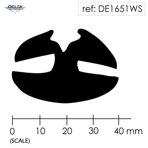 Rubber Window Seal Weatherstrip DE1651WS