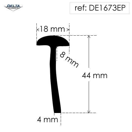 Rubber T Section DE1673EP