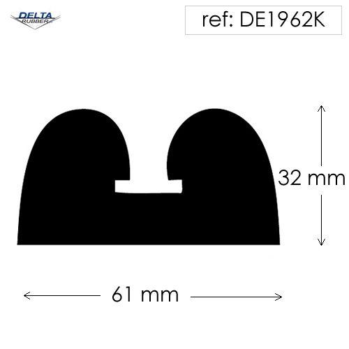 Solid Double D Fender w/ metal insert DE1962K