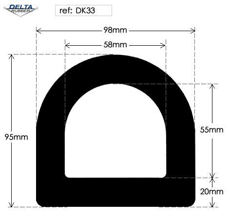 Hollow D Rubber Fender