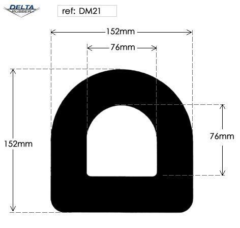 Hollow EPDM Rubber D Fender DM21