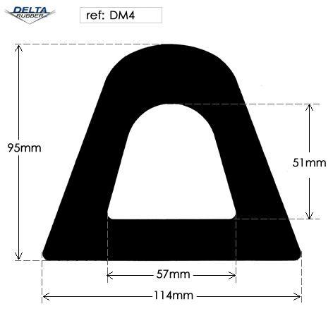 Hollow EPDM Rubber D Fender DM4